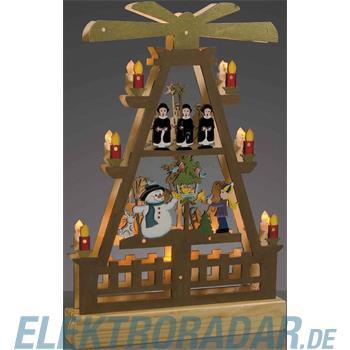 Hellum Glühlampenwer Holzpyramide bunt 572254