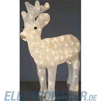 Hellum Glühlampenwer LED-Rentier H:50cm ww 575248