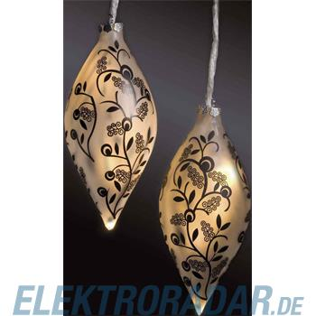 Hellum Glühlampenwer LED-Glaskugeln Tropfenform 878035