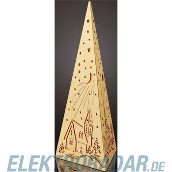 Hellum Glühlampenwer LED-Holzpyramide natur 572360