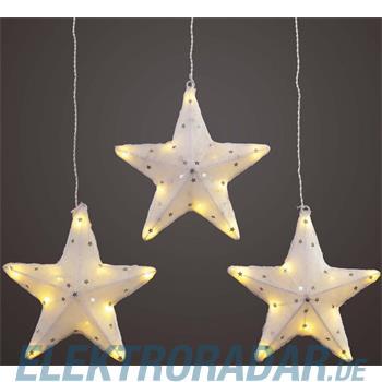 Hellum Glühlampenwer LED-Sterne 3er-Set 564372