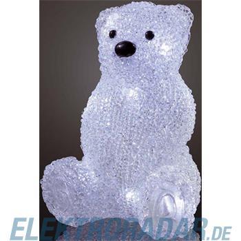 Hellum Glühlampenwer LED-Eisbär sitzend 575101