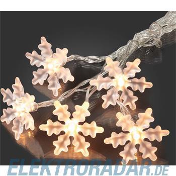 Hellum Glühlampenwer LED-Schneeflockenkette 566109