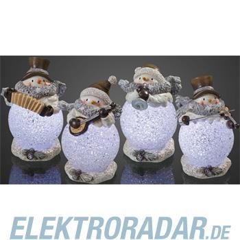 Hellum Glühlampenwer LED-Resin-Schneemann 567571