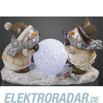 Hellum Glühlampenwer LED-Resin-Schneemann 567601