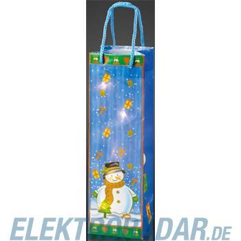 Hellum Glühlampenwer Deko-Tasche Schneemann 571004