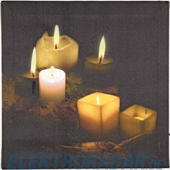 Hellum Glühlampenwer LED-Bild mit Kerzen 566925