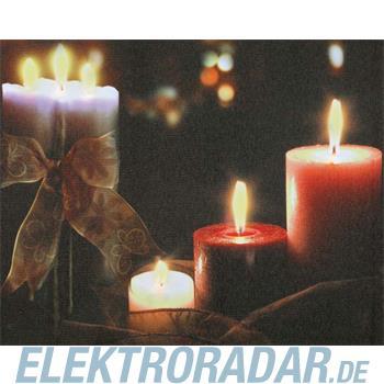 Hellum Glühlampenwer LED-Bild mit Kerzen 566932