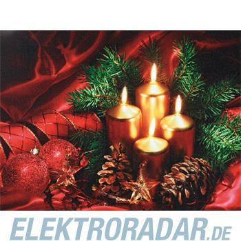 Hellum Glühlampenwer LED-Bild mit Kerzen 566987