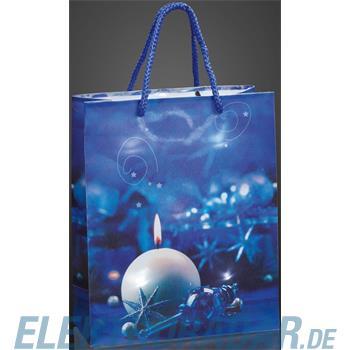 Hellum Glühlampenwer Deko-Tasche Kerze blau 571035