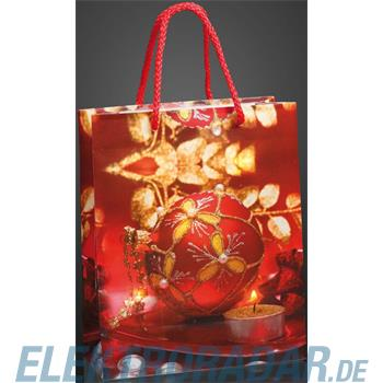 Hellum Glühlampenwer Deko-Tasche rot 571028