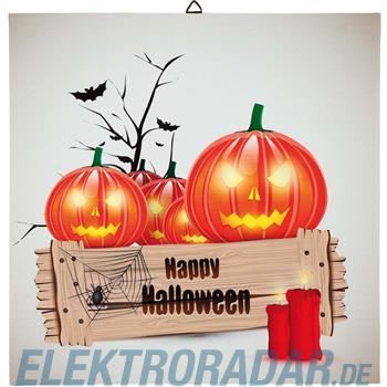 Hellum Glühlampenwer LED-Bild Halloween 376104