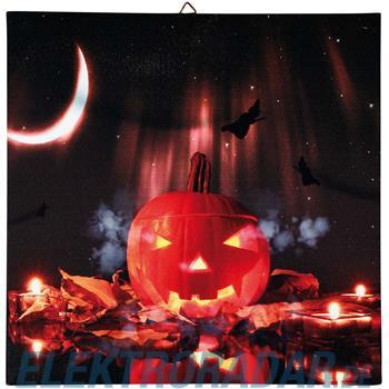 Hellum Glühlampenwer LED-Bild Kürbis 376128