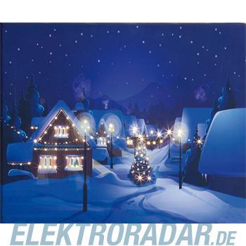 Hellum Glühlampenwer LED-Bild Dorf im Winter 520910