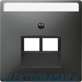Merten Zentralplatte sw/gr 292669