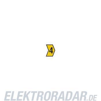 HellermannTyton Kennzeichnungstülle HG4-9-4-PVC-YE-G4