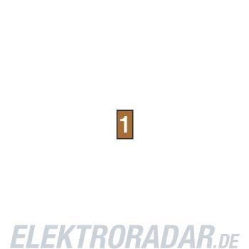 HellermannTyton Kennzeichnungstülle HODS50-1-PVC-BN-M4
