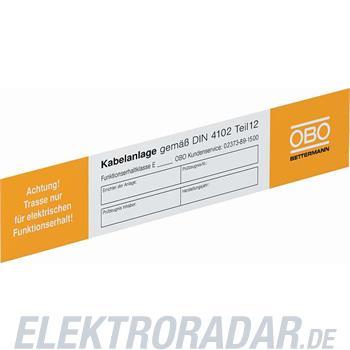 OBO Bettermann Kennzeichnungsschild KS-E DE