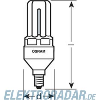 Osram Energiesparlampe DINT LL 11W/825 E14