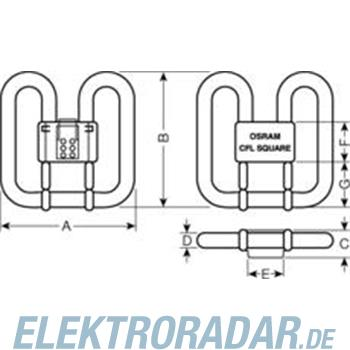 Osram Kompaktlampe CFL SQUARE CFL 38/835 4-PIN