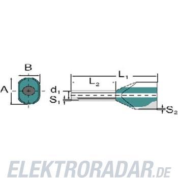 Weidmüller Aderendhülse Zwilling H10,0/24 ZH EB SV