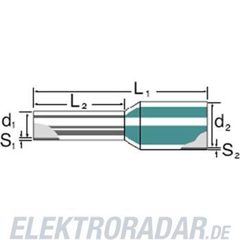 Weidmüller Aderendhülse mit Kragen H0,14/10 GR SV