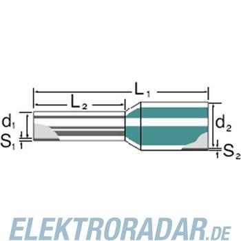 Weidmüller Aderendhülse mit Kragen H10,0/22T BR