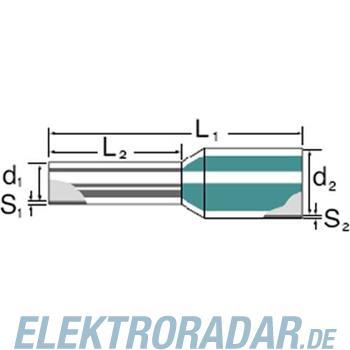 Weidmüller Aderendhülse mit Kragen H2,5/15T GR SV