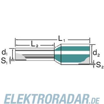 Weidmüller Aderendhülse mit Kragen H1,5/12S R