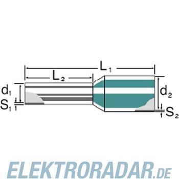 Weidmüller Aderendhülse mit Kragen H150,0/54 GE