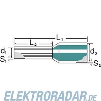 Weidmüller Aderendhülse mit Kragen H1,0/12 GE SV