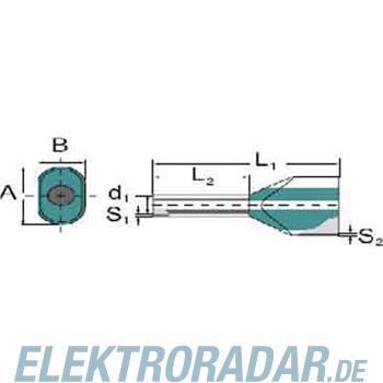 Weidmüller Aderendhülse Zwilling H2,5/27T ZH GR