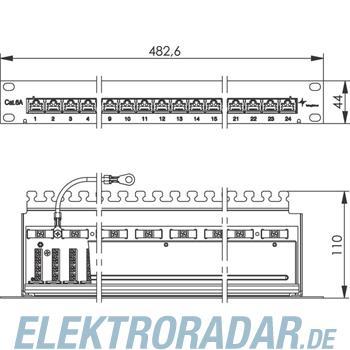 Telegärtner Patchpanel Cat.6A ungesch. J02023A0051