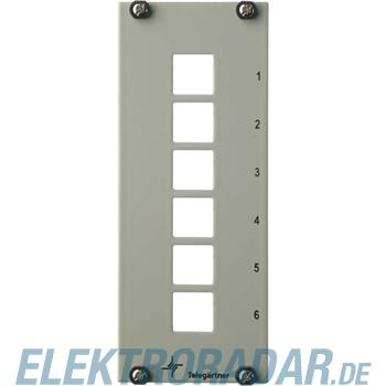Telegärtner Teilfrontplatte 3HE/7TE H02024A8111