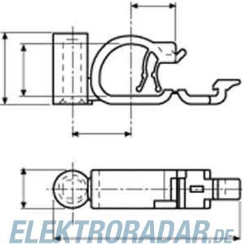 HellermannTyton Befestigungsschelle SBF2-N66-BK-D1