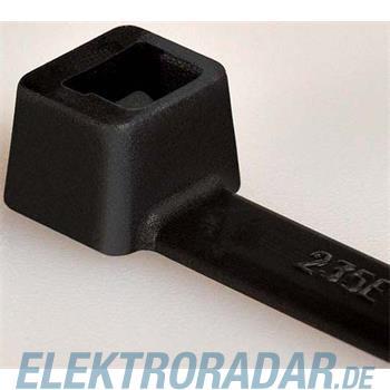 HellermannTyton Kabelbinder T250R-W-BK-G1