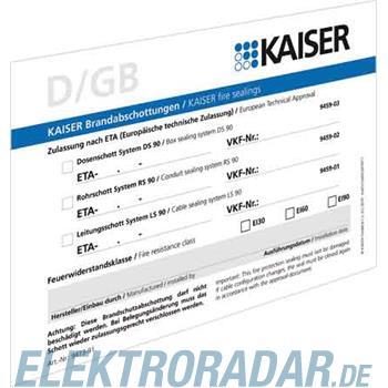 Kaiser Schott-Kennzeichnungsschil 9473-91