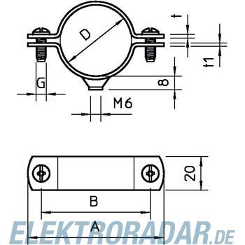 OBO Bettermann Abstandschelle 2900 W 54 FT