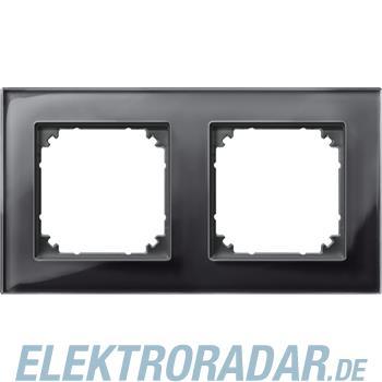 Merten Rahmen Glas 2f.on/sw 489203