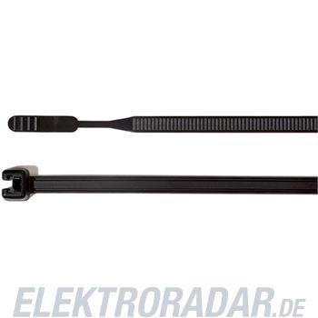 HellermannTyton Kabelbinder 200x3,6 Q30L-W-BK-C1