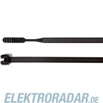 HellermannTyton Kabelbinder 160x3,6 Q30R-W-BK-C1