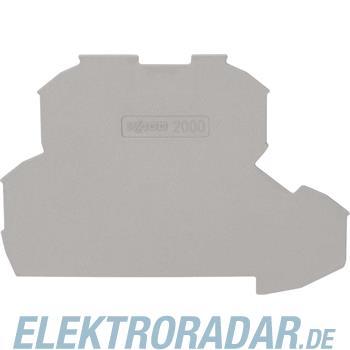 WAGO Kontakttechnik 2L-Abschlussplatte 2000-2291