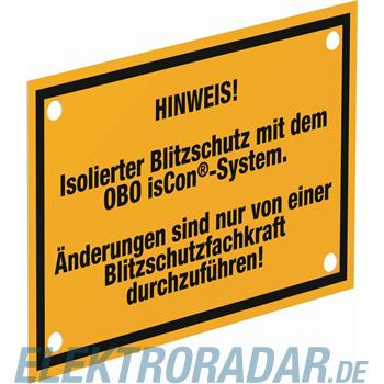 OBO Bettermann Hinweisschild isCon HWS