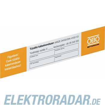OBO Bettermann Kennzeichnungsschild KS-E HU