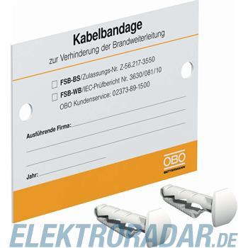 OBO Bettermann Kennzeichnungsschild KS-FSB DE