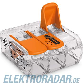 WAGO Kontakttechnik Compact-Verbindungsklemme 221-413