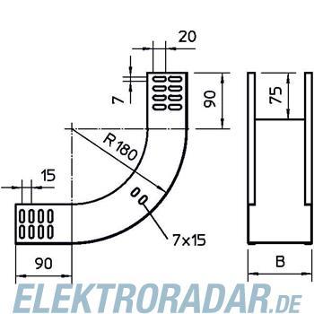 OBO Bettermann Vertikalbogen RBV 610S NX FT