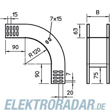 OBO Bettermann Vertikalbogen RBV 610F NX FT