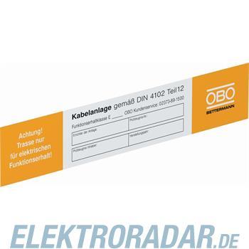 OBO Bettermann Kennzeichnungsschild KS-E PL