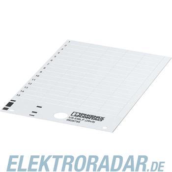 Phoenix Contact Kunststoffschild US-EMLP (15X5) YE